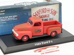 Ford F-1 Pick-Up ano de construção 1952 série de TV Sanford & Son (1972-77) vermelho 1:43 Greenlight