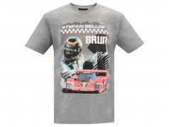 Stefan Bellof T-Shirt Brun 956 Norisring 1984 met frontprint grijs
