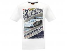 Stefan Bellof T-Shirt giro record 6.11,13 min con frontprint bianco