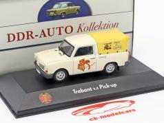 Trabant 1.1 Pick-up blanc / jaune 1:43 Atlas