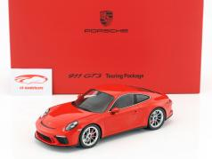 Porsche 911 (991 II) GT3 Touring Package 警備員 赤 とともに ショーケース 1:18 Spark