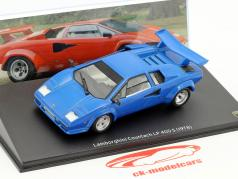 Lamborghini Countach LP 400 S Bouwjaar 1978 blauw 1:43 Leo Models
