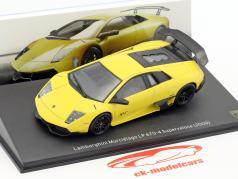 Lamborghini Murcielago LP 670-4 Superveloce Bouwjaar 2009 geel 1:43 Leo Models