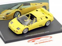Lamborghini Diablo Roadster Bouwjaar 2000 geel 1:43 Leo Models
