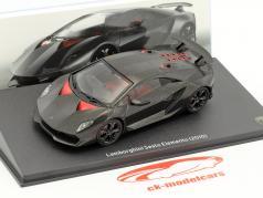 Lamborghini Sesto Elemento año de construcción 2010 negro 1:43 Leo Models