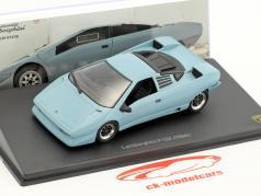Lamborghini P 132 Bouwjaar 1986 blauw 1:43 Leo Models