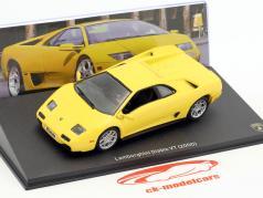 Lamborghini Diablo VT Bouwjaar 2000 geel 1:43 Leo Models
