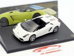 Lamborghini Gallardo Spyder Bouwjaar 2005 wit 1:43 Leo Models