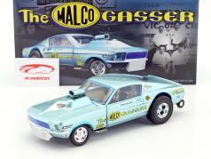 Ford Mustang Dragster Malco Gasser ano de construção 1967 Ohio George Montgomery azul claro 1:18 GMP