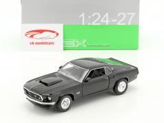 Ford Mustang Boss 429 ano de construção 1970 preto 1:24 Welly