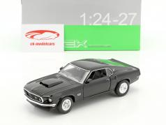 Ford Mustang Boss 429 year 1970 black 1:24 Welly