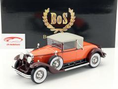 Cadillac 341B Convertible Coupe Baujahr 1929 orange / braun 1:18 BoS-Models
