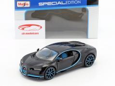 Bugatti Chiron World Record Car #42 J.-P. Montoya negro 1:24 Maisto