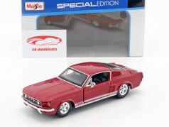 Ford Mustang GT ano de construção 1967 vermelho 1:24 Maisto