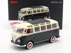 Volkswagen VW T1 Samba Bus Opførselsår 1959-1963 sort / hvid 1:18 Schuco