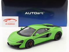 McLaren 570S Opførselsår 2016 mantis grøn med sort hjul 1:18 AUTOart