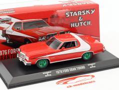 Ford Gran Torino série de TV Starsky and Hutch 1975-79 vermelho / branco com verde jantes 1:43 Greenlight