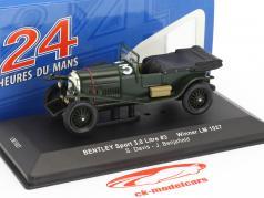 Bentley Sport 3.0 Litre #3 ganador 24h LeMans 1927 Davis, Benjafield 1:43 Ixo