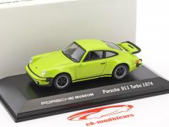 Porsche 911 Turbo année 1974 citron vert 1:43 Welly