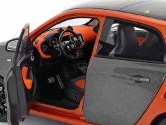 Smart forfour Coupe (W453) arancione / grigio 1:18 Norev