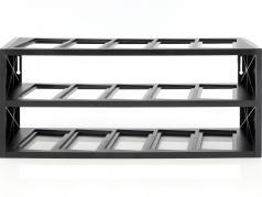 plast udstillingsvindue til op til 15 modeller i skala 1:43 sort Atlas
