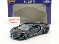 Bugatti Chiron World Record Car #42 J.-P. Montoya 黑 1:18 Bburago
