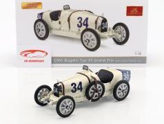Bugatti Type 35 Grand Prix #34 Nation Colour Project USA 1:18 CMC