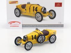 Bugatti Type 35 Grand Prix #14 Nation Colour Project Belgium 1:18 CMC