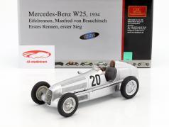 Mercedes Benz W25 º 20 von Brauchitsch Formula 1 1934 Ganador Eifelrennen 1:18 CMC