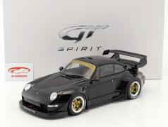 Porsche 911 (993) RWB preto 1:12 GT-SPIRIT