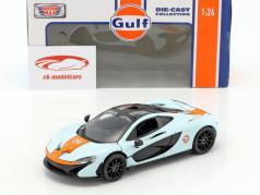 McLaren P1 year 2015 gulf blue / orange 1:24 MotorMax