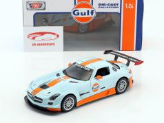 Mercedes-Benz SLS AMG GT3 year 2014 gulf blue / orange 1:24 MotorMax