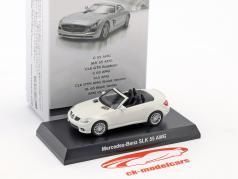 Mercedes-Benz SLK 55 AMG cabriolé blanco 1:64 Kyosho