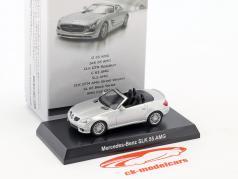 Mercedes-Benz SLK 55 AMG cabriolé plata metálico 1:64 Kyosho