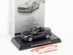 Mercedes-Benz SLK 55 AMG cabriolé negro 1:64 Kyosho