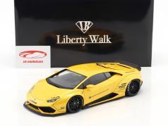 Lamborghini Huracan Liberty Walk LB-Works amarelo metálico 1:18 AUTOart