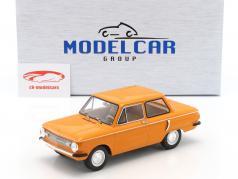 Saporoshez SAS 966 Bouwjaar 1966 oranje 1:18 Model Car Group