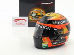 Stoffel Vandoorne #2 McLaren F1 Team fórmula 1 2018 casco 1:2 Bell