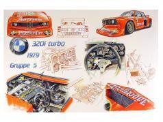 Print: BMW E21 320i Turbo Gruppe 5 Jägermeister DRM 1979 afmetingen: 98cm x 68 cm