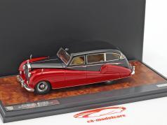 Rolls Royce Freestone & Webb Silver Wraith Limousine Baujahr 1957 schwarz / rot 1:43 Matrix
