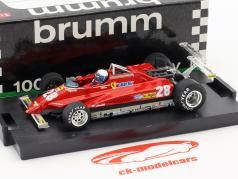 Didier Pironi Ferrari 126C2 #28 Winner USA GP Long Beach Formel 1 1982 1:43 Brumm