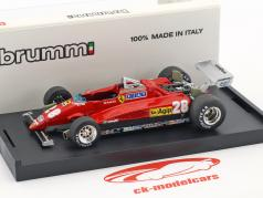 Mario Andretti Ferrari 126C2 #28 3ª italiano GP fórmula 1 1982 1:43 Brumm