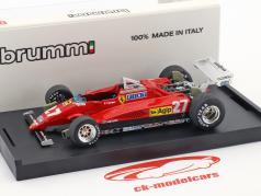 Patrick Tambay Ferrari 126C2 #27 segundo italiano GP fórmula 1 1982 1:43 Brumm