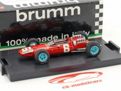 Nino Vaccarella Ferrari 158 #6 italiano GP fórmula 1 1965 1:43 Brumm