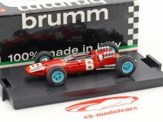 Nino Vaccarella Ferrari 158 #6 italiensk GP formel 1 1965 1:43 Brumm