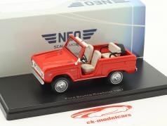 Ford Bronco Roadster Bouwjaar 1967 rood 1:43 Neo