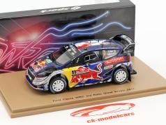 Ford Fiesta WRC #1 3ª rali grande Grã-Bretanha 2017 Ogier, Ingrassia 1:43 Spark
