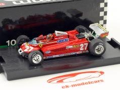 Gilles Villeneuve Ferrari 126CK #27 3 Canada GP formule 1 1981 rond 57-63 1:43 Brumm