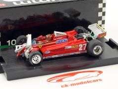 Gilles Villeneuve Ferrari 126CK #27 3rd Canada GP formula 1 1981 round 55-56 1:43 Brumm