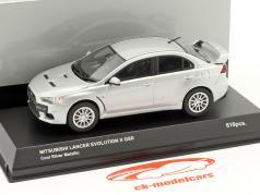 Mitsubishi Lancer Evo X GSR plata metálico 1:43 Kyosho